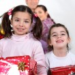 Kids at Christmas — Foto Stock