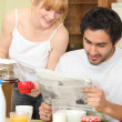 Couple having breakfast — Stock Photo #16018293