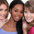 Portrait of three young women — Stock Photo