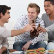 Three friends hanging out. — Stock Photo
