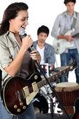 摇滚乐队 — 图库照片
