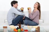 Couple on a date — Stock Photo
