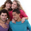 Two couples posing together — Stock Photo #16020037