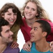 Stock Photo: A group of young