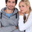 Couple in tracksuit — Stock Photo #16026451
