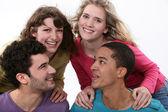 En grupp unga — Stockfoto