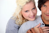 Closeup of a couple hugging — Stock Photo