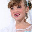 Little girl dressed as bride — Stock Photo #16030731