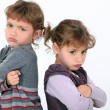 Girls angry at one another - Foto Stock