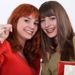 Two girlfriends shopping — Stock Photo #16037615