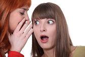 Dwie kobiety plotkują — Zdjęcie stockowe