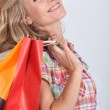 Woman with bags — Stock Photo