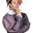 Stock Photo: Min Tudor Fancy Dress Costume