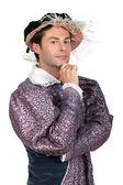 在都铎的漂亮裙子服装的男人 — 图库照片