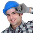 Portrait of a cheerful artisan — Stock Photo #16059137
