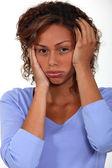 Annoyed woman. — Stock Photo