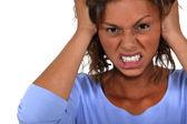 Angry woman. — Stock Photo