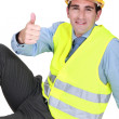 Stock Photo: Engineer giving thumb