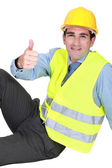 Engineer giving the thumb — Stock Photo
