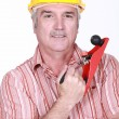 Stock Photo: Mwith hand tool