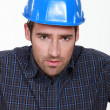 Portrait of a worried tradesman — Stock Photo #16080553