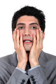 Anxious businessman — Stock Photo
