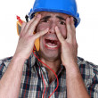 Electrician terrified — Stock Photo #16134829