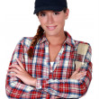 Craftswoman painter posing - Stock Photo