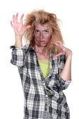 Zombie meisje — Stockfoto
