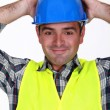 Stock Photo: Relaxed construction worker