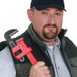 Portrait of a confident plumber — Stockfoto
