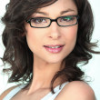Brunette in trendy glasses — Foto Stock #16163549