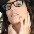 Royalty-Free Stock Photo: Attractive woman in geeky glasses