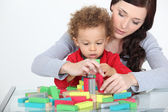 Mother playing with baby — Stock Photo