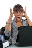 Una secretaria olvidadiza — Foto de Stock