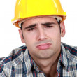 Stock Photo: Tired builder