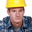 Stock Photo: Depressed construction worker