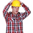 Shocked construction worker — Stock Photo #16339679
