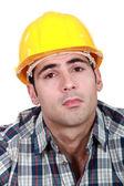 Serious builder — Stock Photo