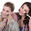 Stock Photo: Two women pampering themselves