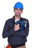 Portrait of carpenter — Stock Photo
