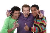 Trio of cheerful buddies — Stock Photo