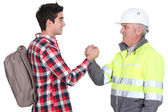 Young male apprentice — Stock Photo