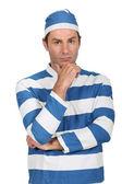 Man in prison Fancy Dress Costume — Stock Photo