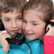 Children on the telephone — Stock Photo