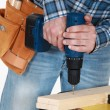 Stock Photo: Musing electrical screwdriver