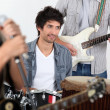 Stock Photo: Music band performing