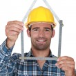Stock Photo: House builder