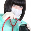 Surgeon ausculating purse — Stock Photo #16487363