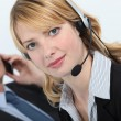 Secretary wearing headset — Stock Photo #16487939